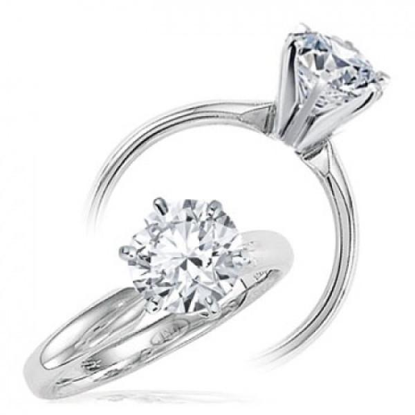 Кольцо Tiffany & Co белое золото 750 с бриллиантом
