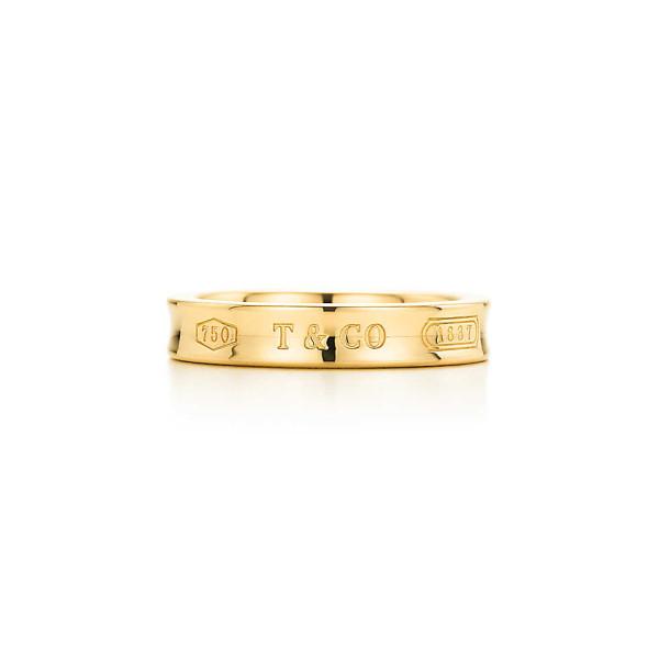 Кольцо Tiffany 1837, желтое золото (23579251)