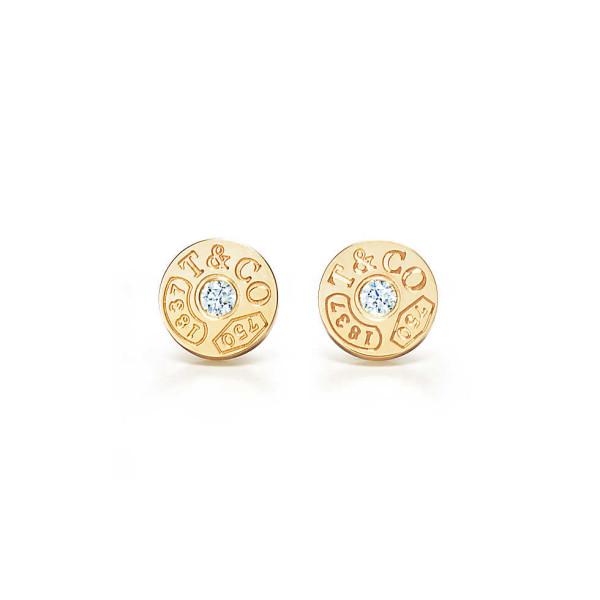 Круглые серьги Tiffany 1837, желтое золото (33285655)