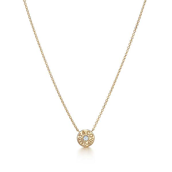 Подвеска-круг Tiffany 1837, желтое золото с бриллиантом (33285981)