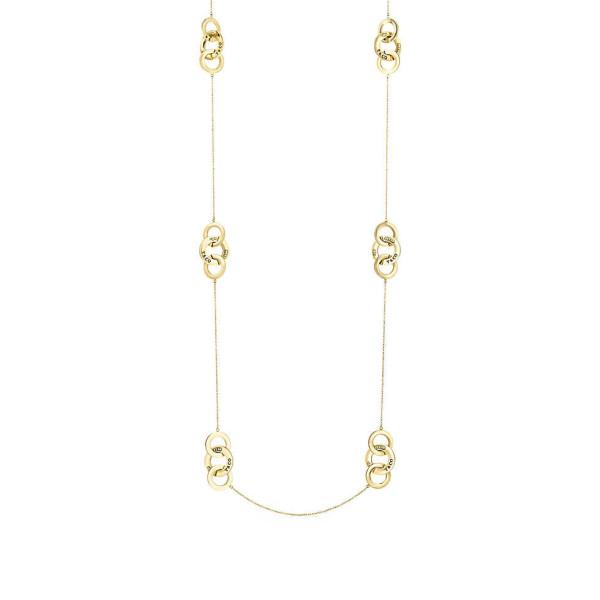 Ожерелье из переплетающихся колец Tiffany 1837, желтое золото (28672403)