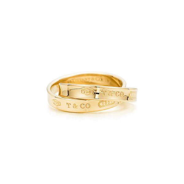 Переплетающиеся кольца Tiffany 1837, желтое золото (23781581)