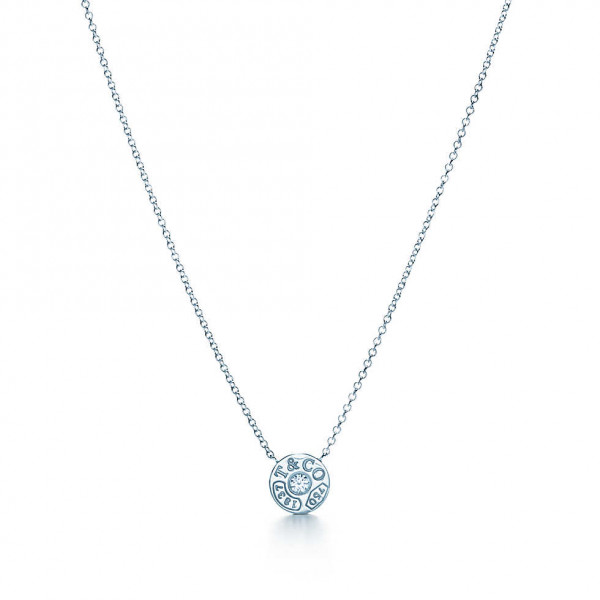 Подвеска-круг Tiffany 1837, белое золото с бриллиантом (33285973)