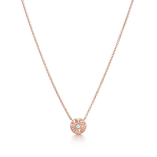Подвеска-круг Tiffany 1837, розовое золото с бриллиантом (33286007)