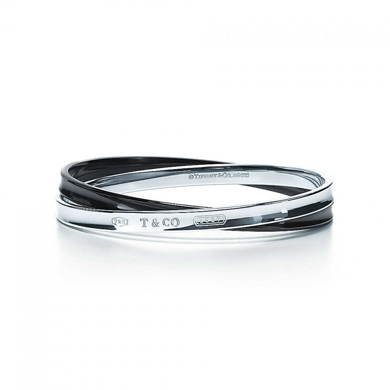 Браслет в виде переплетающихся колец Tiffany 1837, титан, серебро (32785972)