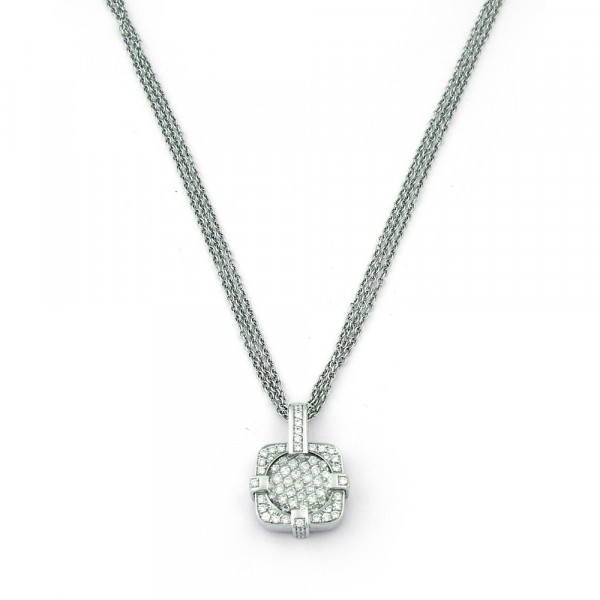 Кулон GIANNI LAZZARO, белое золото 750, бриллианты