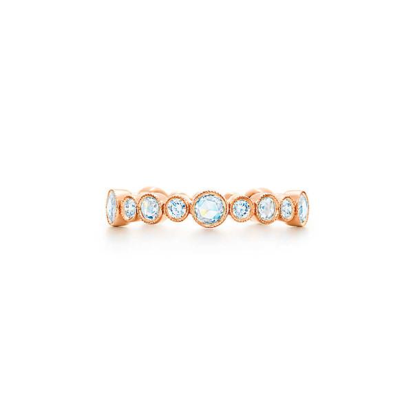 Кольцо Tiffany Cobblestone, розовое золото, бриллианты (29285861)