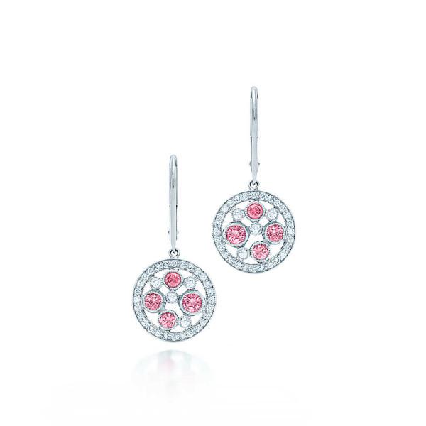 Серьги Tiffany Cobblestone, платина, бриллианты, сапфиры (30691539)