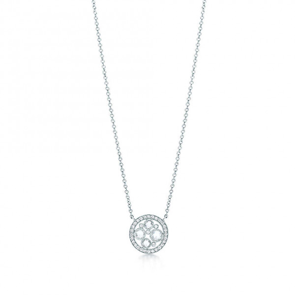 Подвеска Tiffany Cobblestone, платина, бриллианты (25922468)