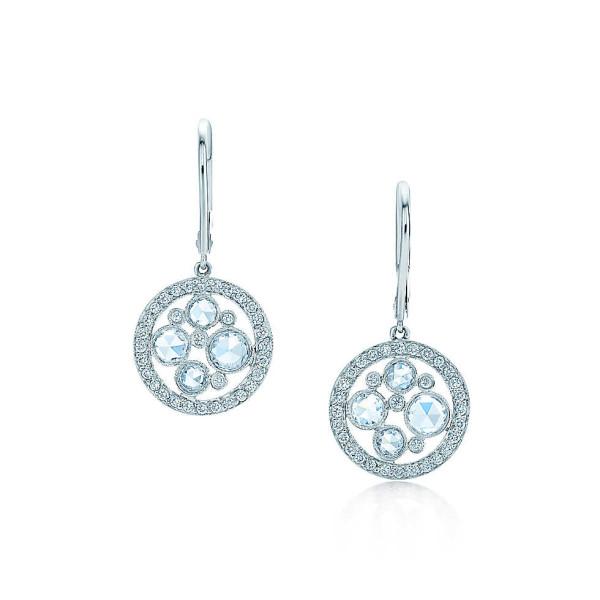 Серьги Tiffany Cobblestone, платина, бриллианты (26068886)