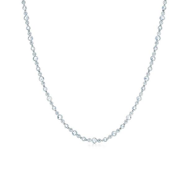 Ожерелье Tiffany Cobblestone, платина, бриллианты (27998488)