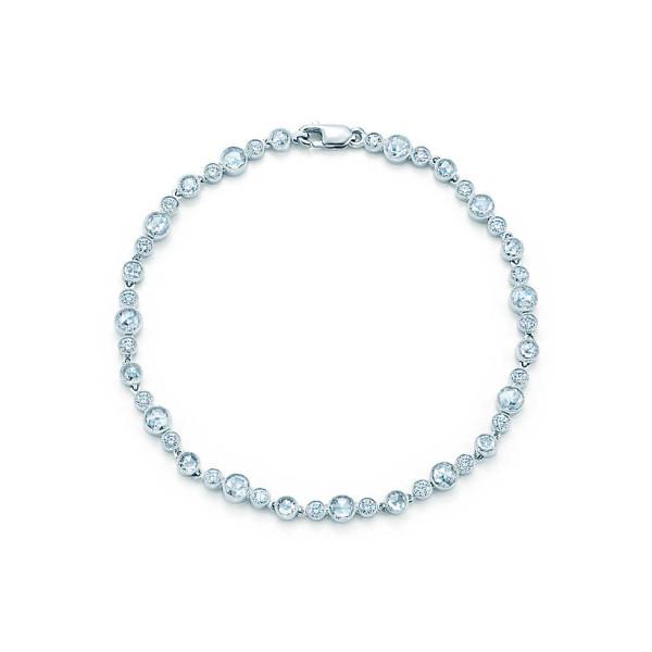 Браслет Tiffany Cobblestone, платина, бриллианты (27998496)