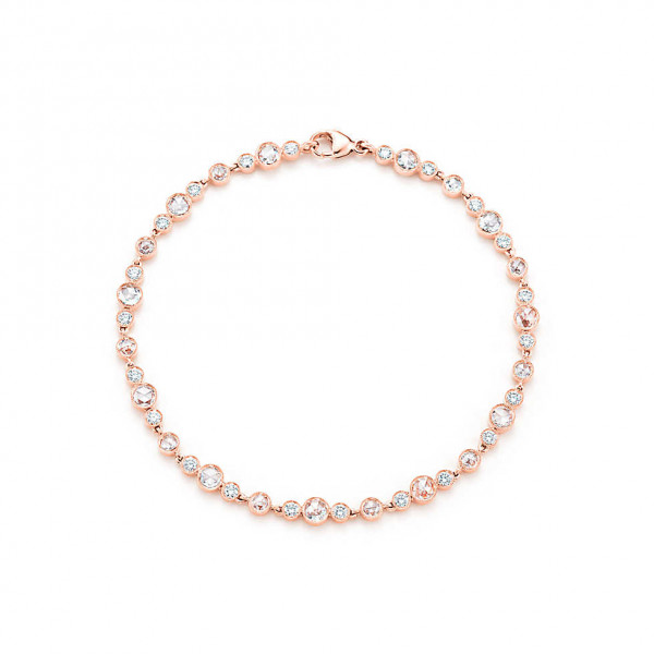Браслет Tiffany Cobblestone, розовое золото, бриллианты (29284989)