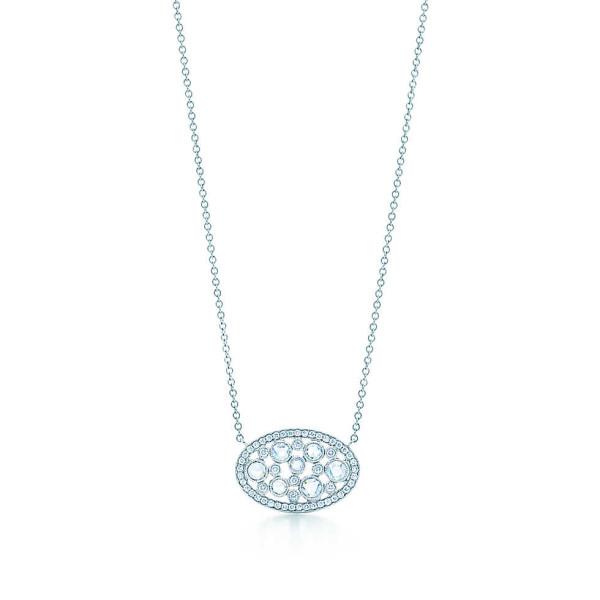 Овальная подвеска Tiffany Cobblestone, платина, бриллианты (29744971)