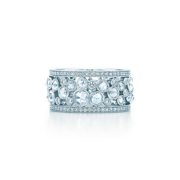 Кольцо Tiffany Cobblestone, платина, бриллианты (26039851)