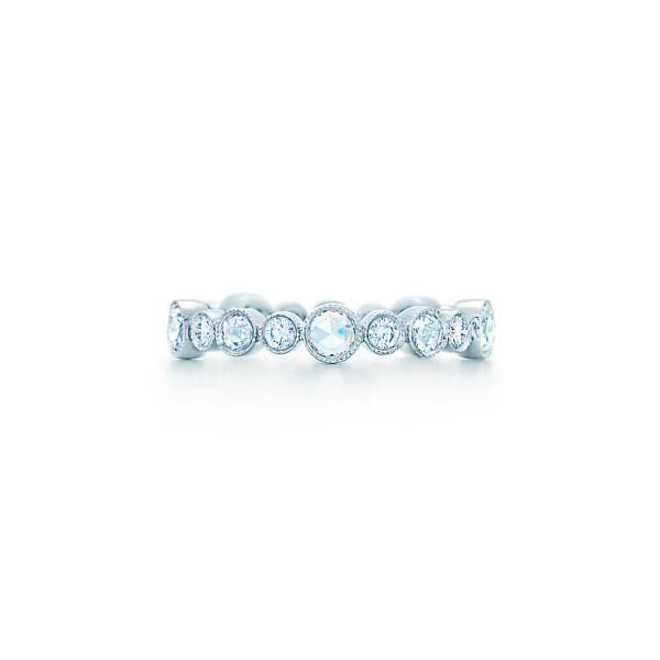 Кольцо Tiffany Cobblestone, платина, бриллианты (27998798)