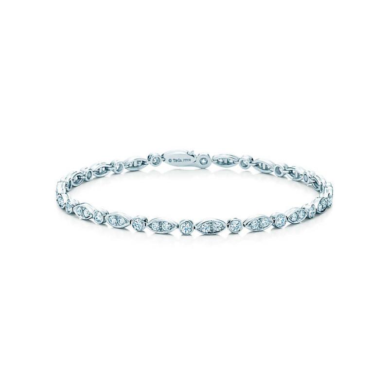 Браслет Tiffany Jazz, платина, бриллианты (18386844)
