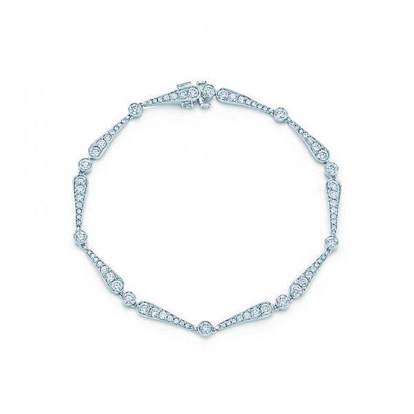 Браслет Tiffany Jazz, платина, бриллианты (26669391)