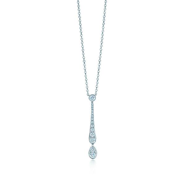 Подвеска Tiffany Jazz, платина, бриллианты (26669405)