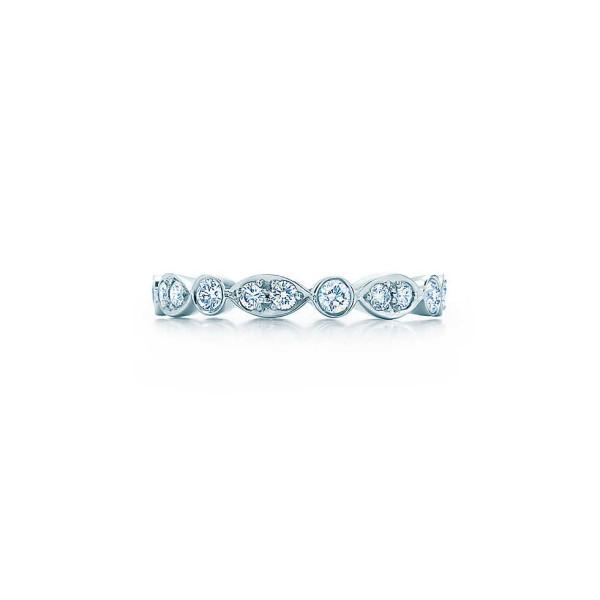 Кольцо Tiffany Jazz, платина, бриллианты (19144925)