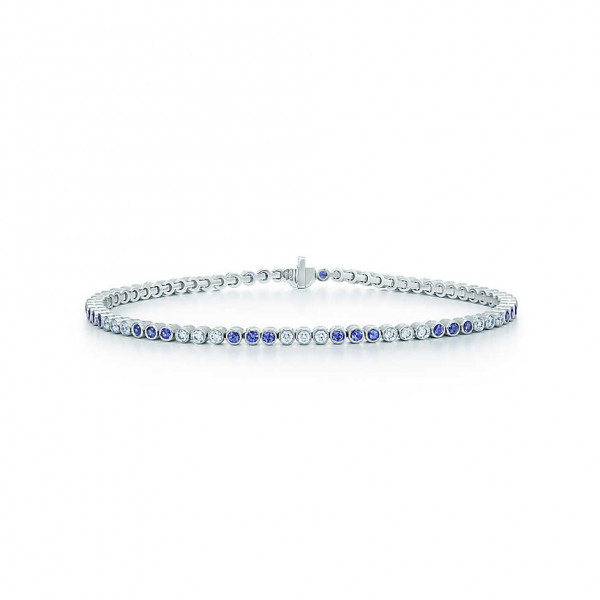 Браслет Tiffany Jazz, платина, бриллианты, сапфиры (31220629)