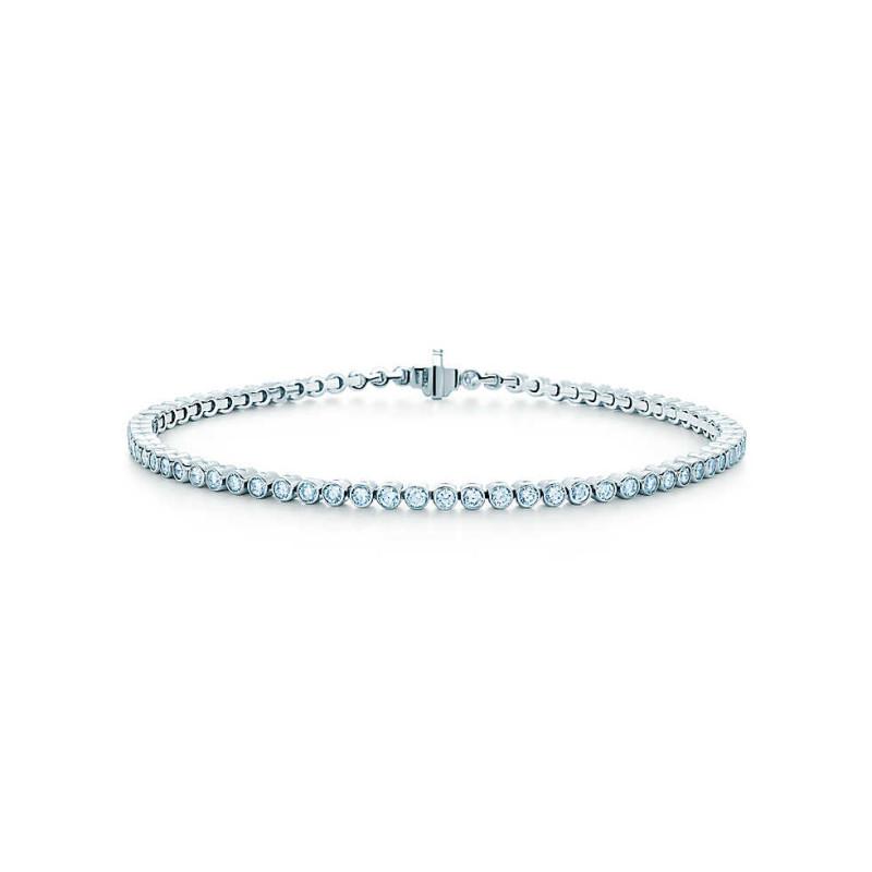 Браслет Tiffany Jazz, платина, бриллианты (29107394)