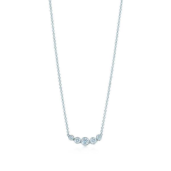 Подвеска Tiffany Jazz, платина, бриллианты (25485807)
