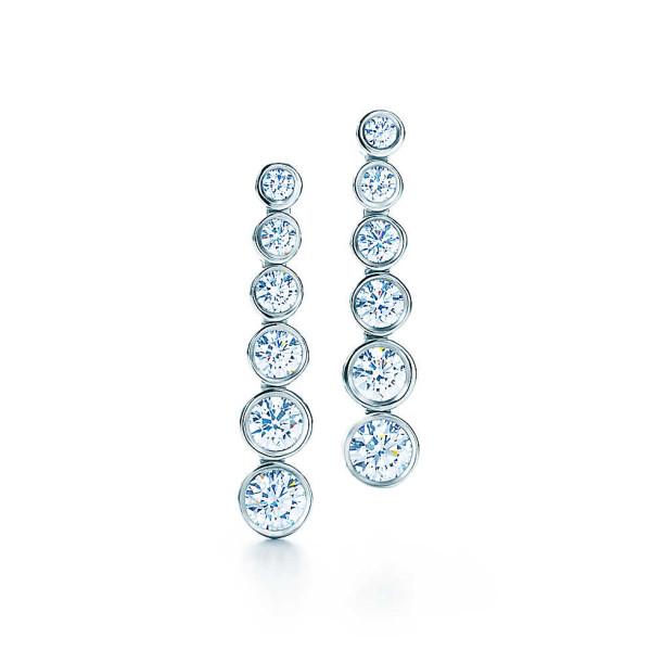 Серьги Tiffany Jazz, платина, бриллианты (17662597)