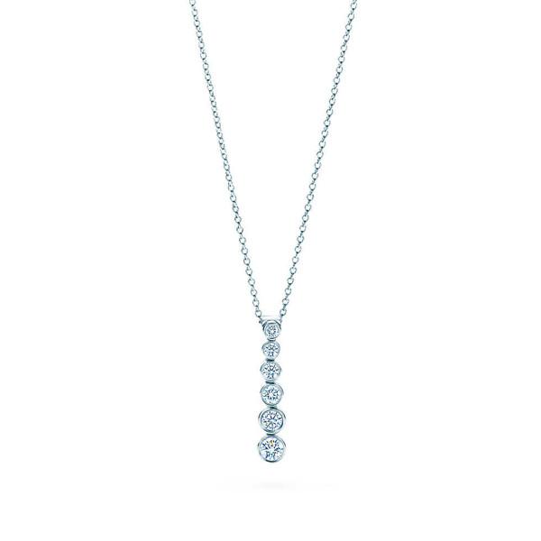 Подвеска Tiffany Jazz, платина, бриллианты (17662546)
