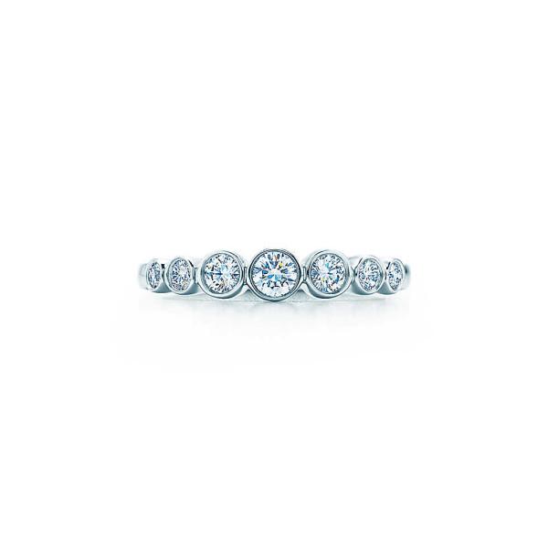 Кольцо Tiffany Jazz, платина, бриллианты (19136841)
