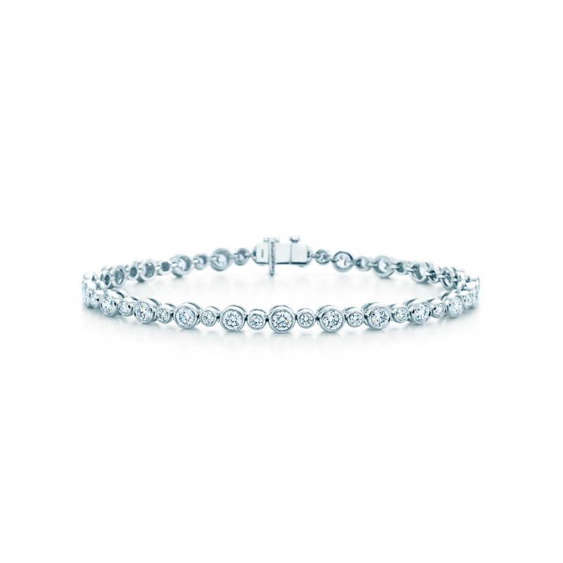Браслет Tiffany Jazz, платина, бриллианты (22151061)