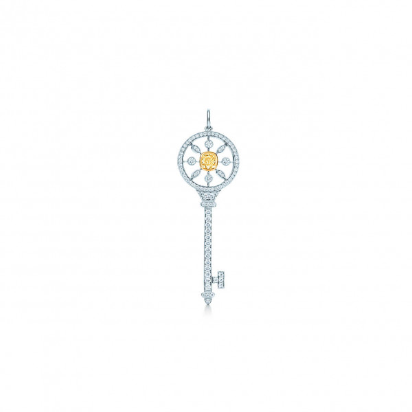 Подвеска-ключ Tiffany Keys, платина, золото, бриллианты (26988284)