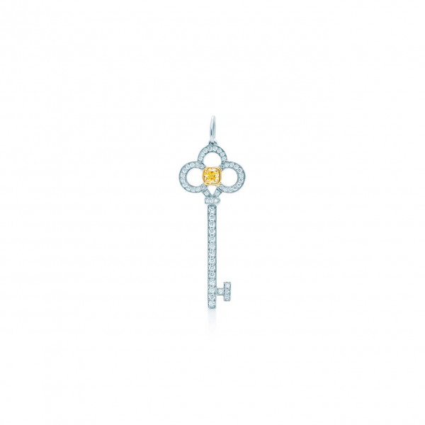 Подвеска-ключ Tiffany Keys, платина, золото, бриллианты (30082575)