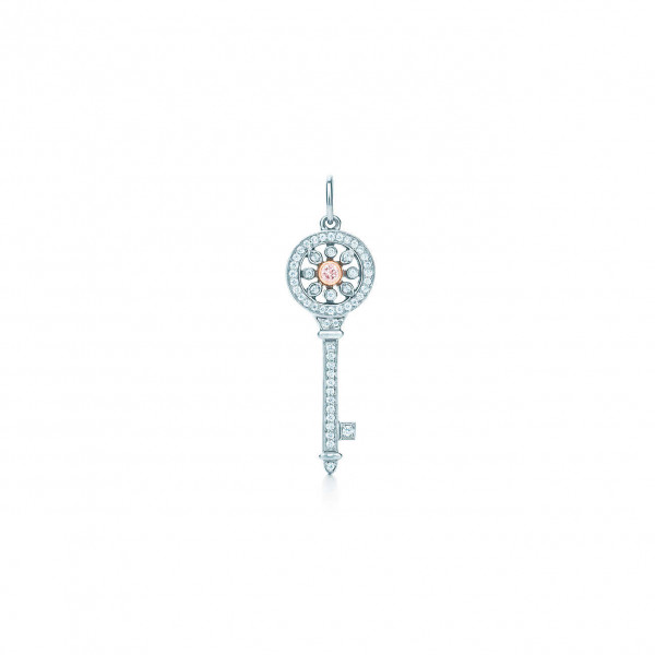 Подвеска-ключ Tiffany Keys, платина, розовое золото, бриллианты (29232458)