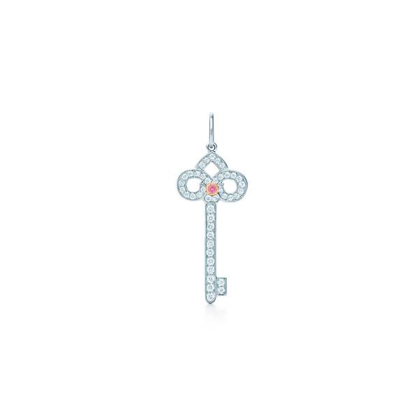 Подвеска-ключ Tiffany Keys, платина, розовое золото, бриллианты (29232474)