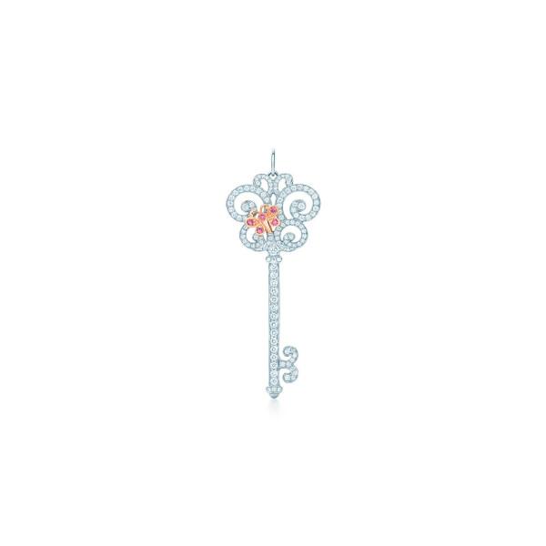 Подвеска-ключ Tiffany Keys, платина, розовое золото, бриллианты (29543011)