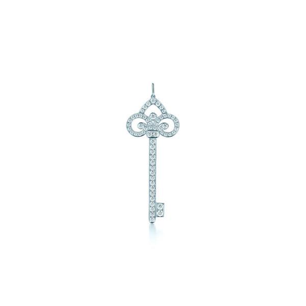 Подвеска-ключ с лилией Tiffany Keys, платина, бриллианты (27632882)