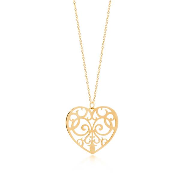 Подвеска Tiffany Enchant в форме сердца, желтое золото (32431054)