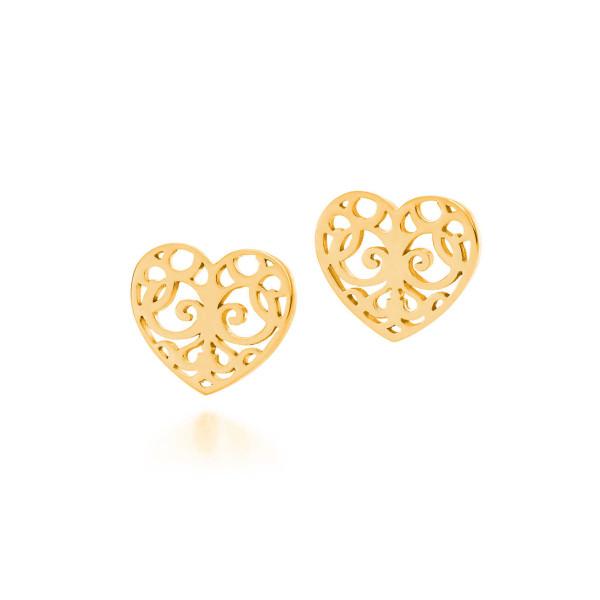 Серьги Tiffany Enchant в виде сердец, желтое золото (32226051)