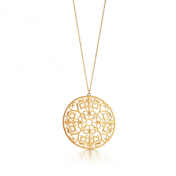 Круглая подвеска Tiffany Enchant, желтое золото (32189792)