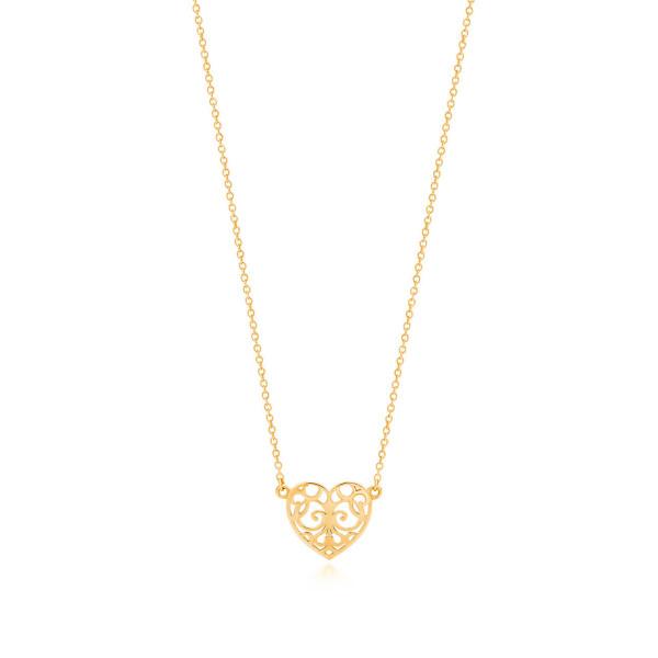 Подвеска Tiffany Enchant в форме сердца, желтое золото (32430902)
