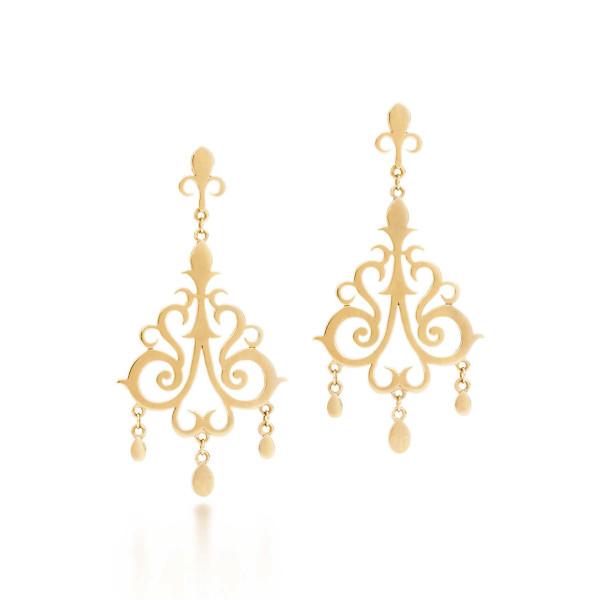 Серьги Tiffany Enchant с подвесками, желтое золото (32189768)