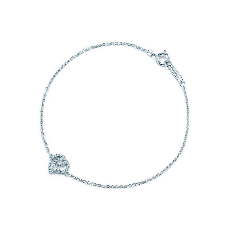 Браслет Tiffany Enchant с сердцем, платина, бриллианты (33725841)
