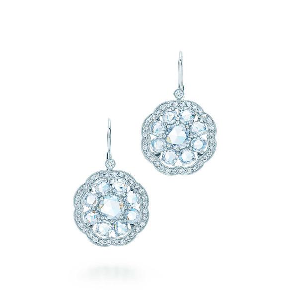 "Серьги ""Флёр"" Tiffany Enchant, платина, бриллианты (30610539)"