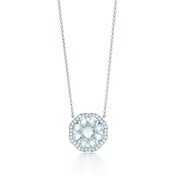 """Подвеска """"Флёр"""" Tiffany Enchant, платина, бриллианты (31723051)"""