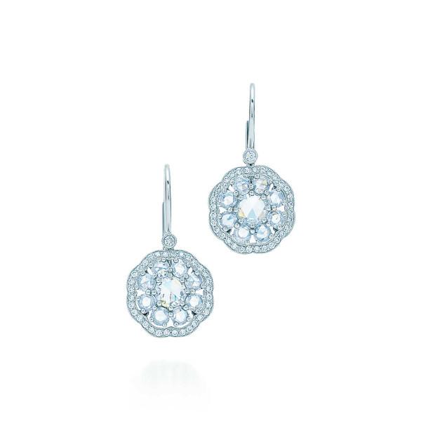 "Серьги ""Флёр"" Tiffany Enchant, платина, бриллианты (32056938)"