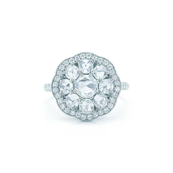 """Кольцо """"Флёр"""" Tiffany Enchant, платина, бриллианты (32080391)"""