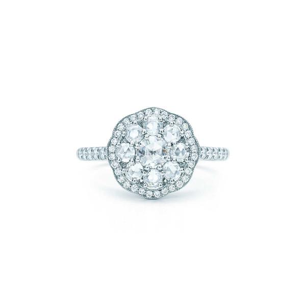 """Кольцо """"Флёр"""" Tiffany Enchant, платина, бриллианты (32269907)"""