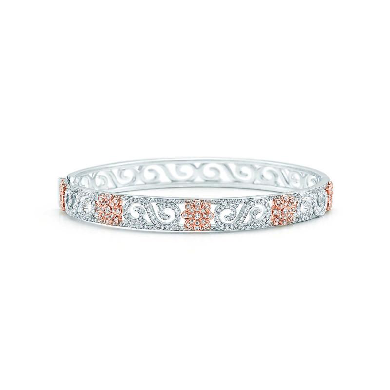 Браслет с завитками Tiffany Enchant, платина, бриллианты (29006253)