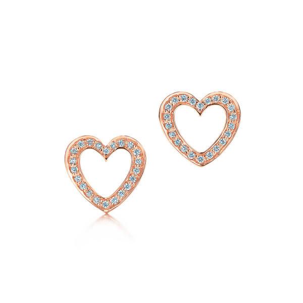 Серьги Tiffany Metro, розовое золото, бриллианты (26663563)